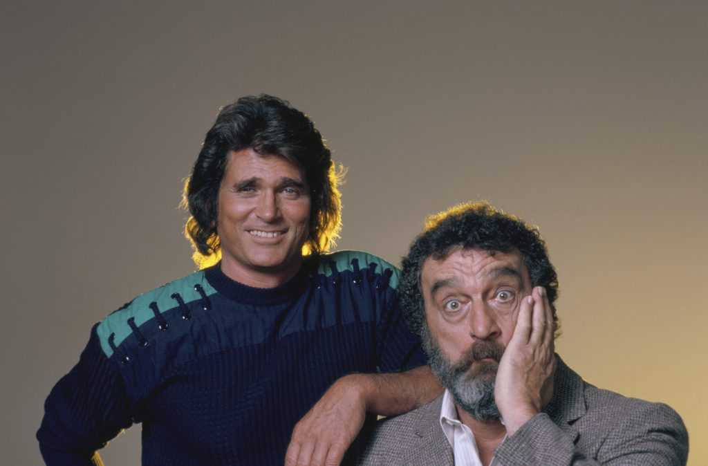 Michael Landon and Victor French of