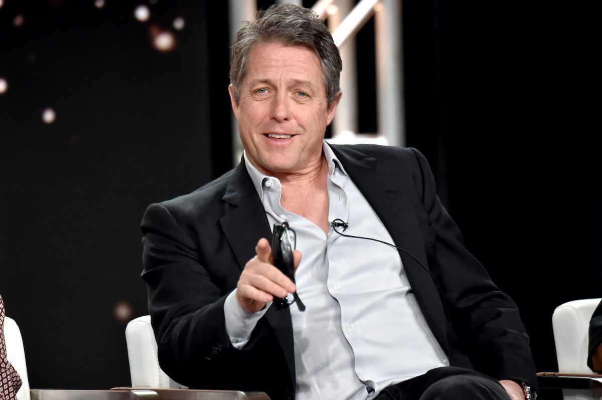 Hugh Grant de `` The Undoing '' apparaît sur scène pendant le segment HBO de la tournée de presse de la Winter Television Critics Association 2020