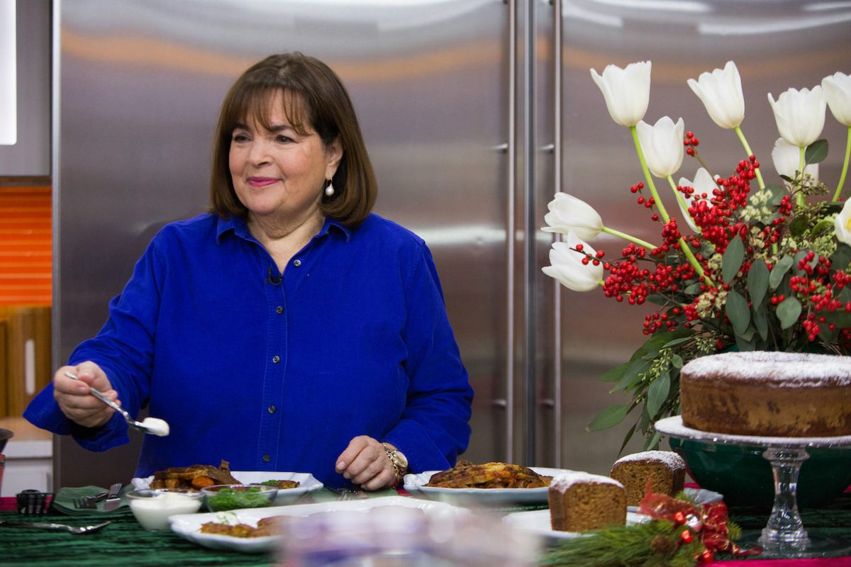 Ina Garten does a cooking segment on