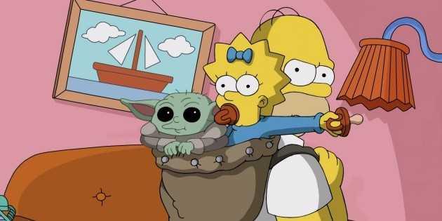 Incontournable: la vidéo du court métrage qui a réuni Les Simpsons et Baby Yoda