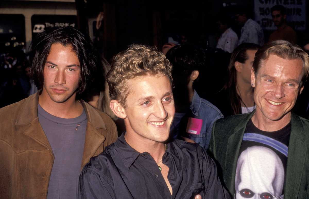 Keanu Reeves, Alex Winter et William Sadler lors de la première de Bill & Ted's Bogus Journey