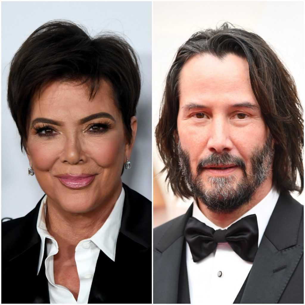 Kris Jenner et Keanu Reeves