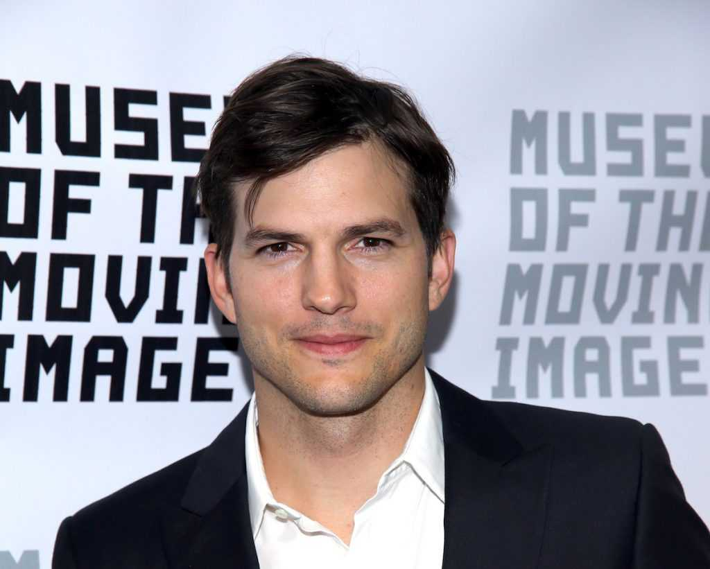Ashton Kutcher at a premiere.