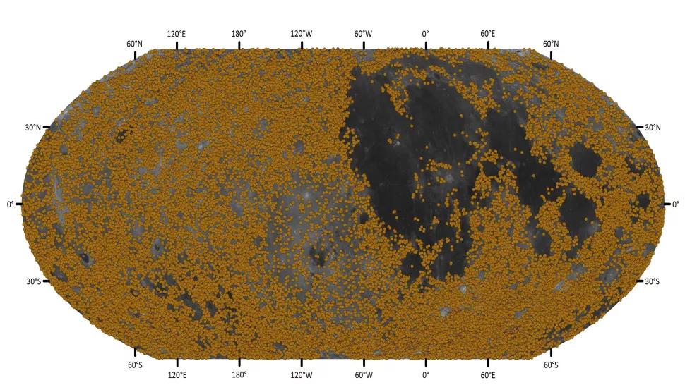 Nouveaux cratères découverts dans le système nectarien, vieux de 3,92 à 3,85 milliards d'années