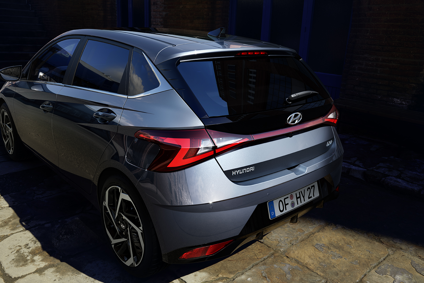 Arrière de la nouvelle Hyundai i20