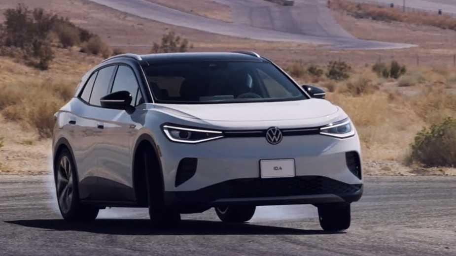 La Nouvelle Volkswagen Id.4 Dérive également à L'arrière