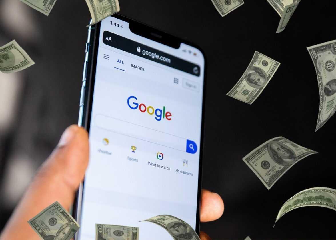 Google sur un iPhone