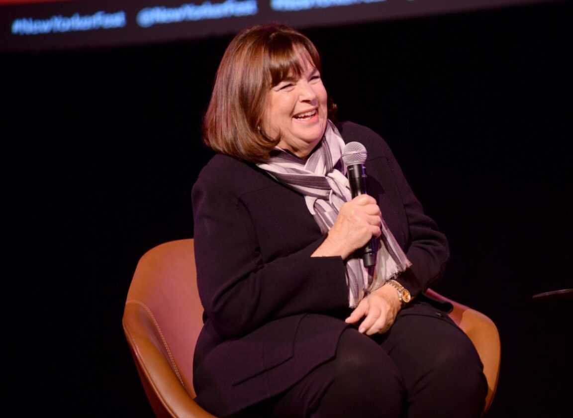 Ina Garten speaks onstage during a talk with Helen Rosner at the 2019 New Yorker Festival