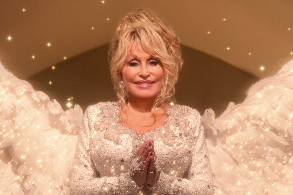 Dolly Parton as an angel