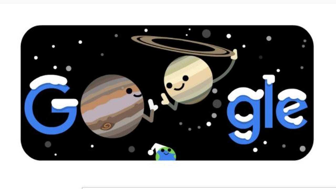 Le Google Doodle D'aujourd'hui Célèbre `` La Grande Conjonction ''