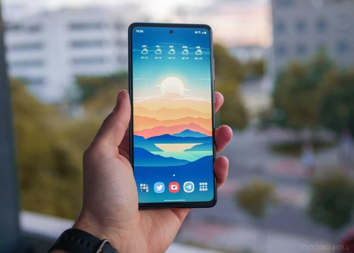 Écran Samsung Galaxy S20 FE allumé