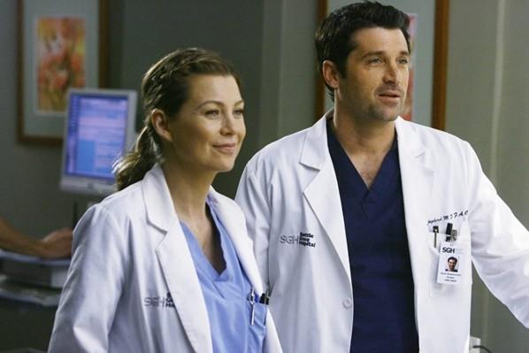 Ellen Pompeo et Patrick Dempsey sur Grey's Anatomy