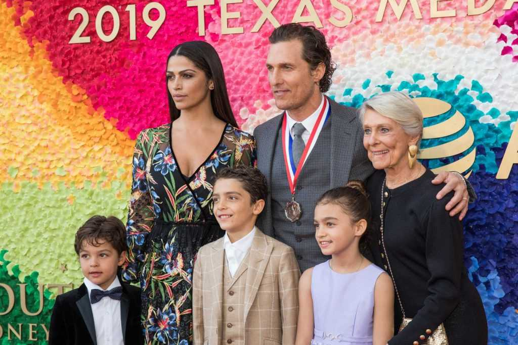 Matthew McConaughey with his family