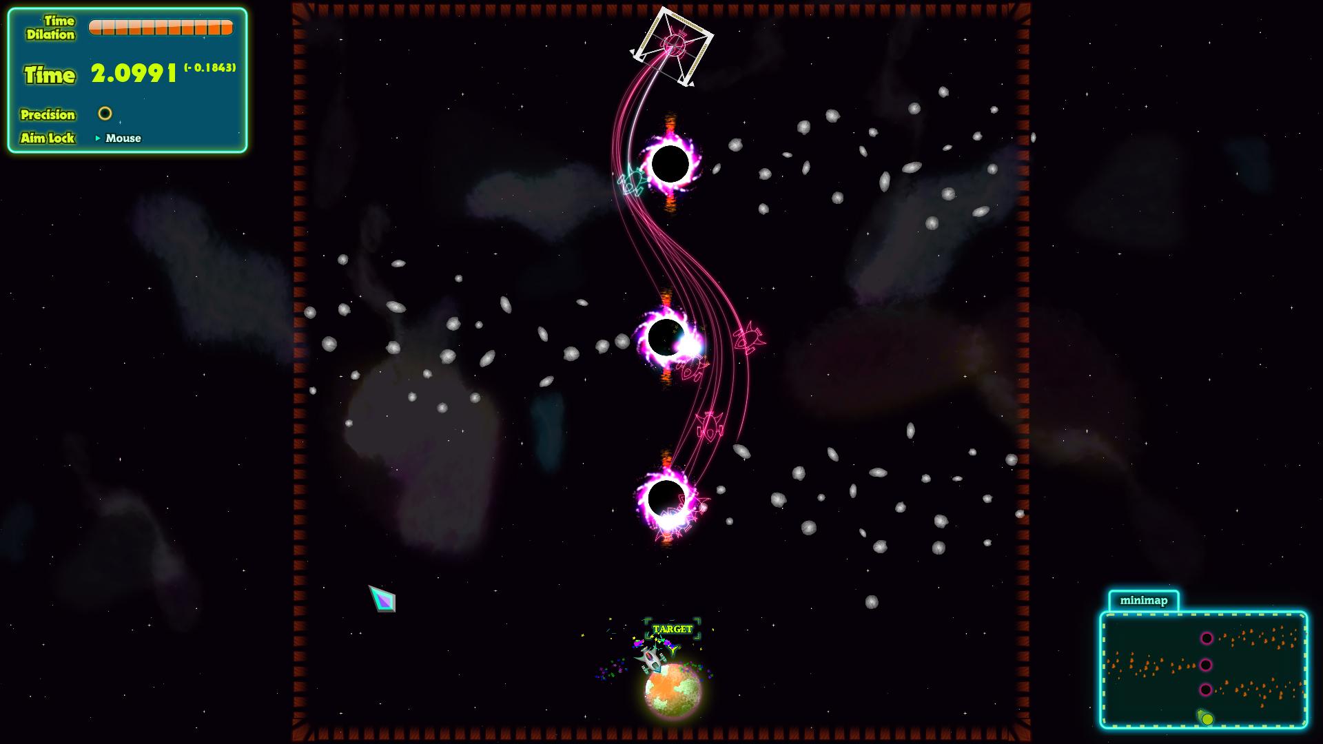 Une image tirée du jeu de livraison spatiale Spaceslingers.