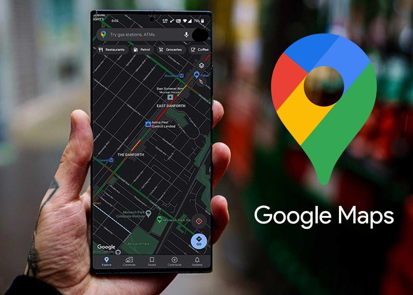 Google Maps, thème sombre sur Android