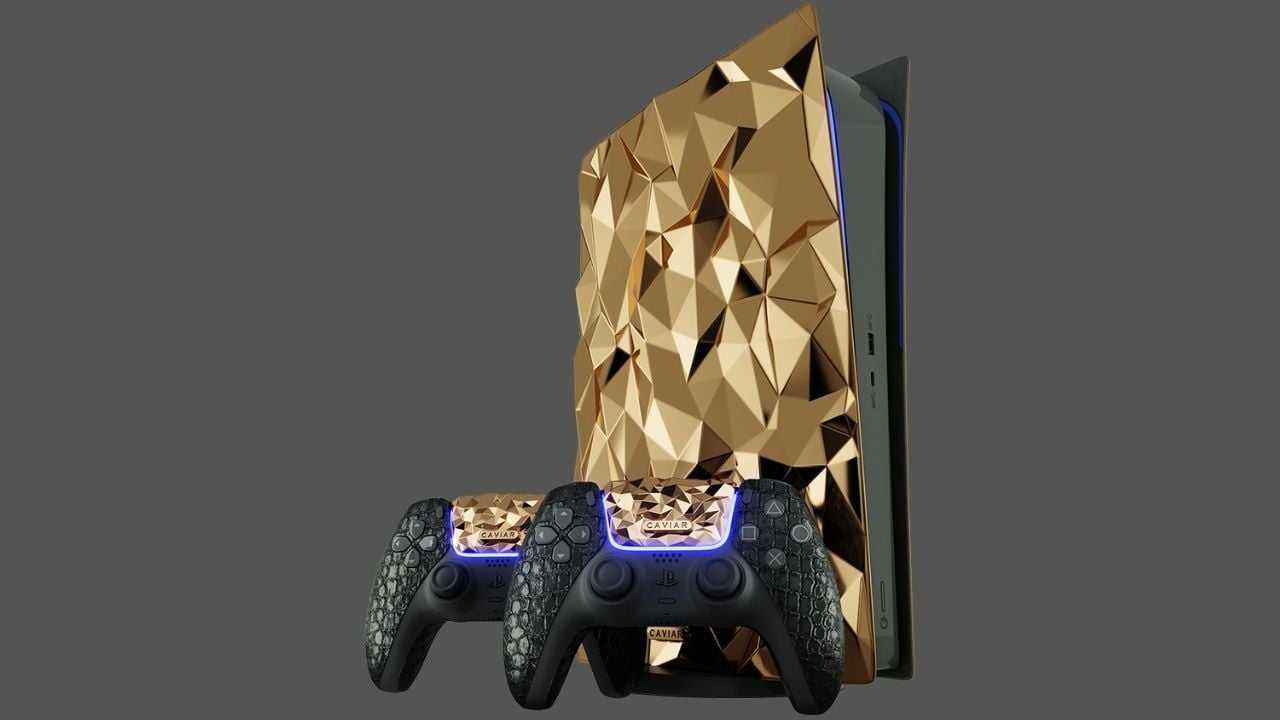 L'édition Golden Rock de Sony PlayStation 5 en or 18 carats de 20 kg dévoilée par Caviar