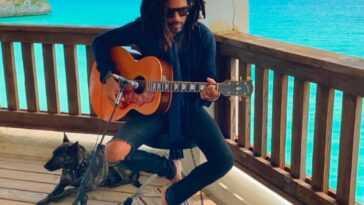 Lenny Kravitz in the Bahamas