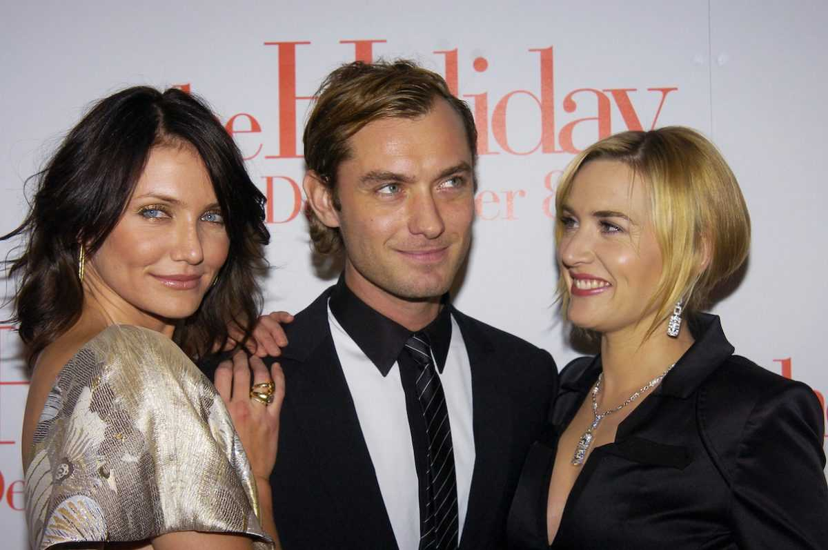 Cameron Diaz, Jude Law, and Kate Winslet attend the premiere of