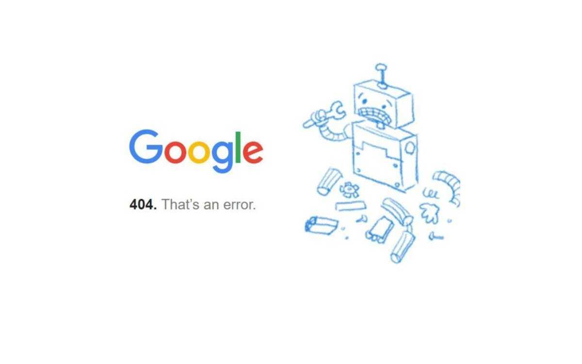 Google vers le bas.  Erreurs dans Google.