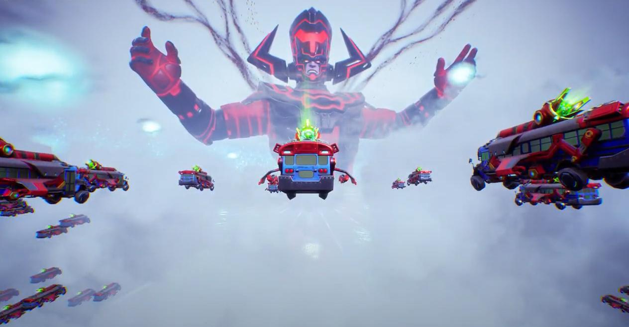 Fornite a lancé les joueurs dans l'espace à bord de bus à laser pour combattre le géant Galactus, Devourer of Worlds, dans un événement en direct épique pour mettre fin au chapitre 2, saison 5, le 1er décembre 2020.