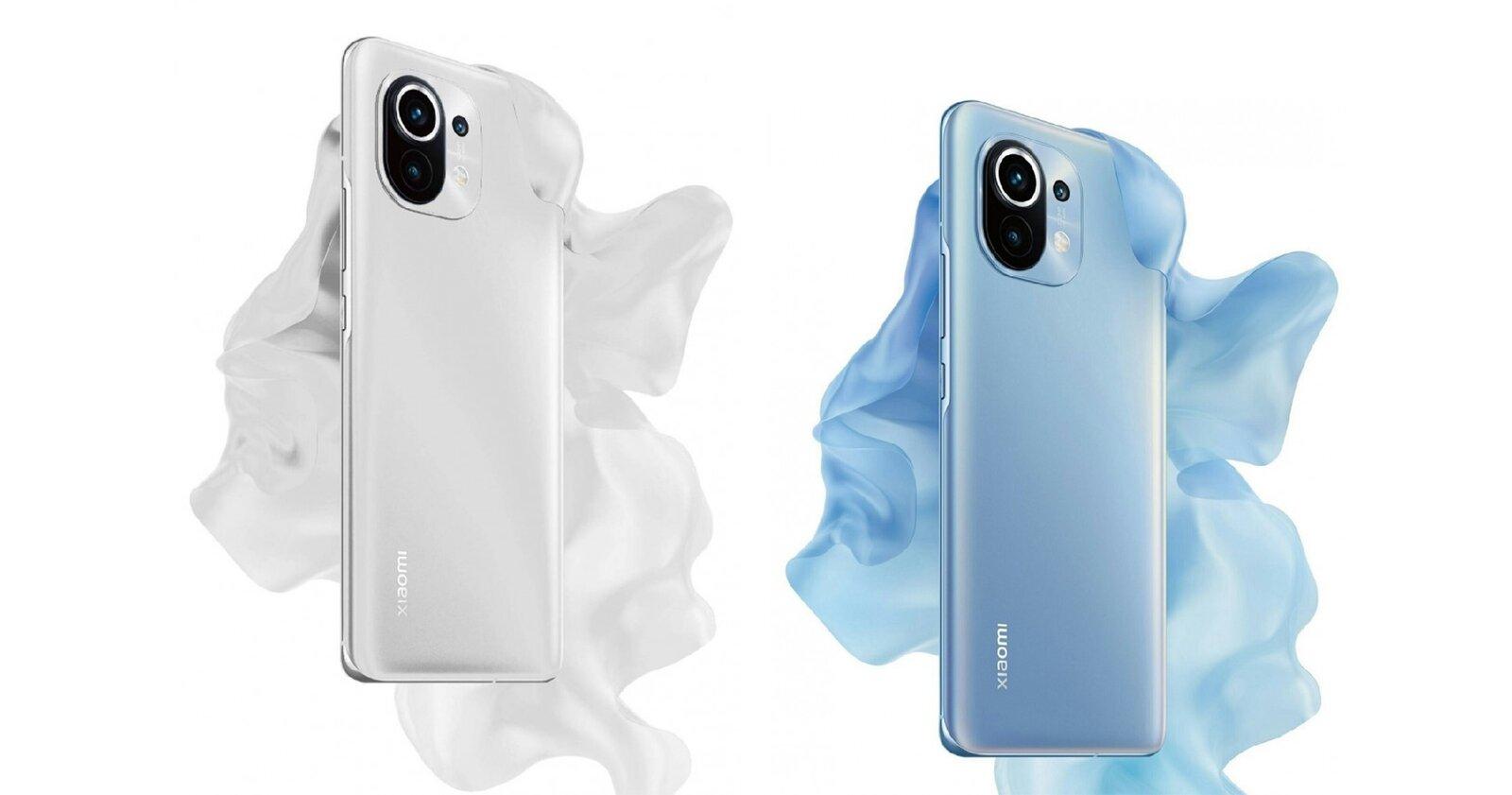 Xiaomi Mi 11 en blanc et bleu