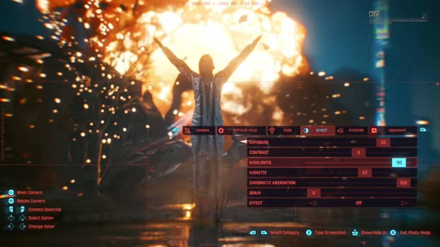 Explosion du mode photo cyberpunk 2077