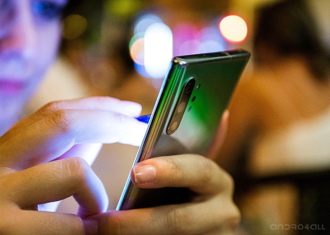 Samsung Galaxy Note10 + la nuit