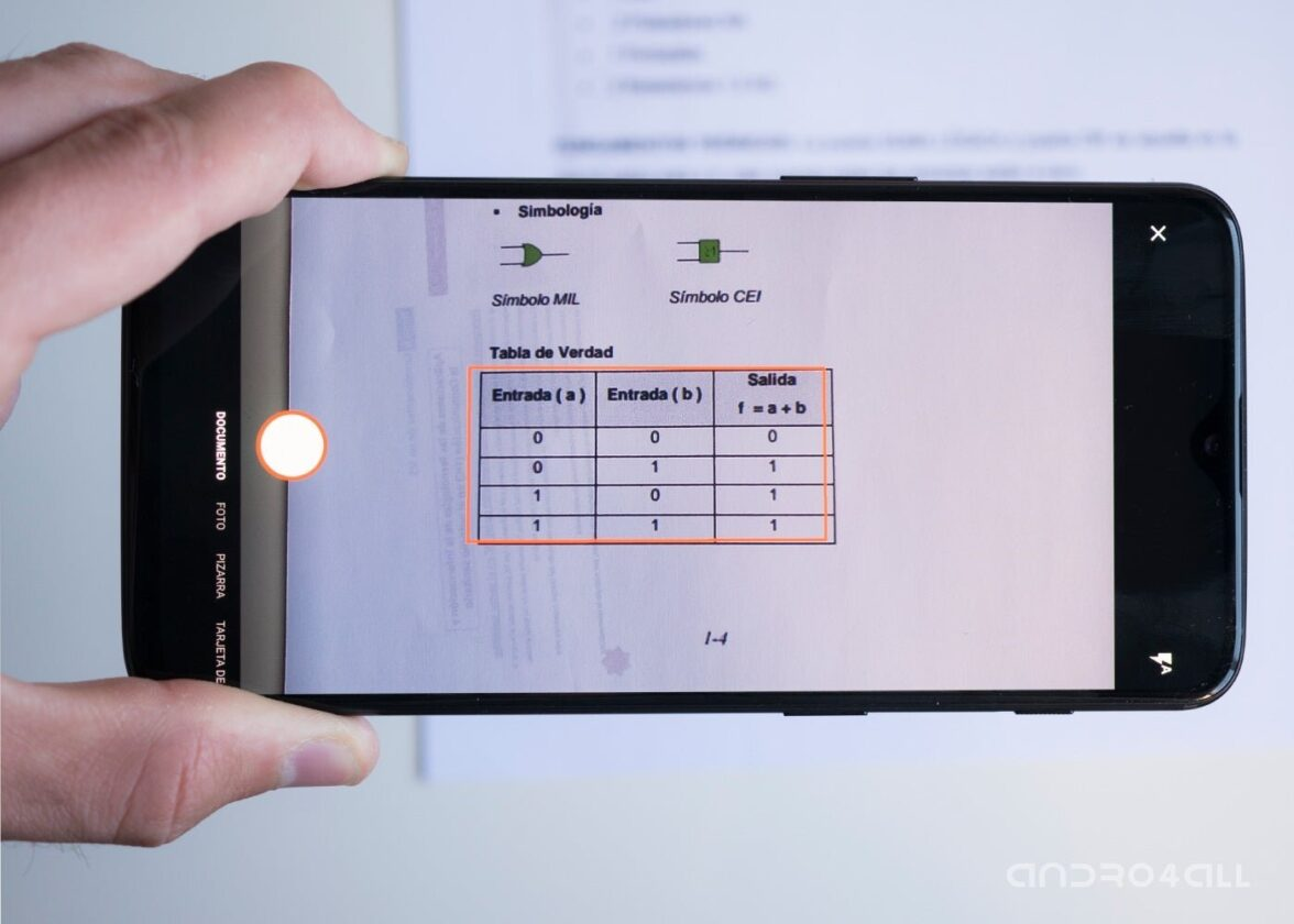 Scanner le fichier vers Excel pour Android
