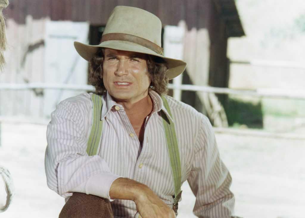 Michael Landon comme Charles Philip Ingalls sur 'Little House on the Prairie'