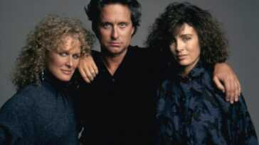 Glenn Close, Michael Douglas and Anne Archer.