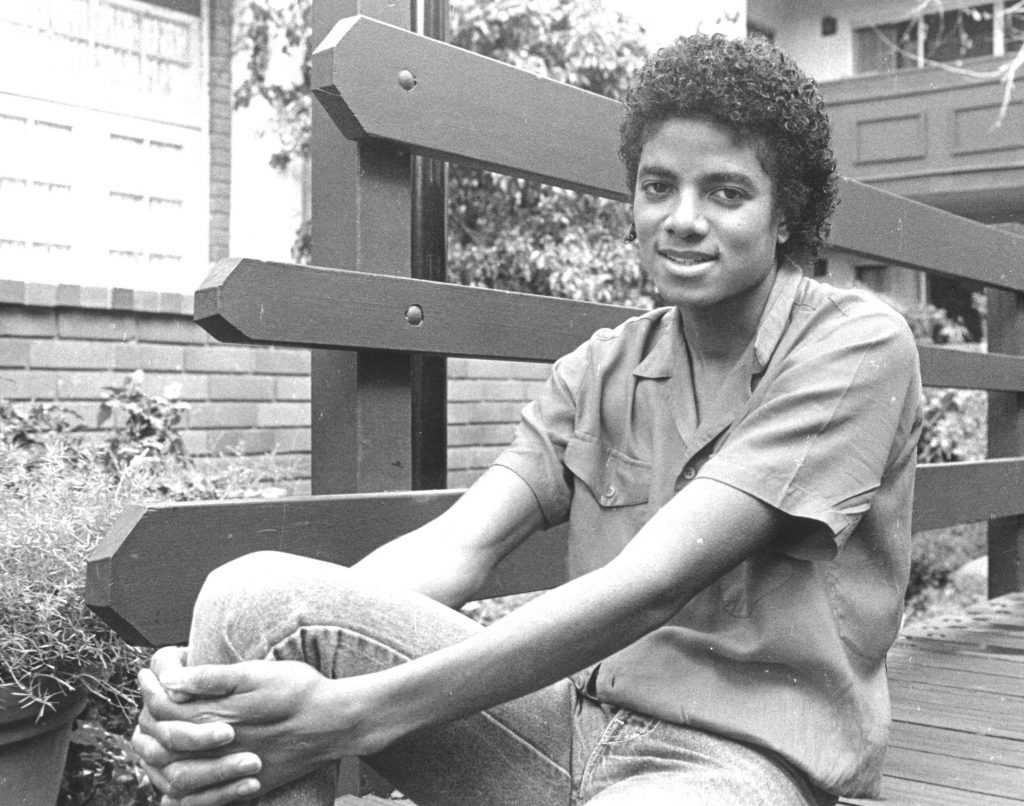 Michael Jackson sitting