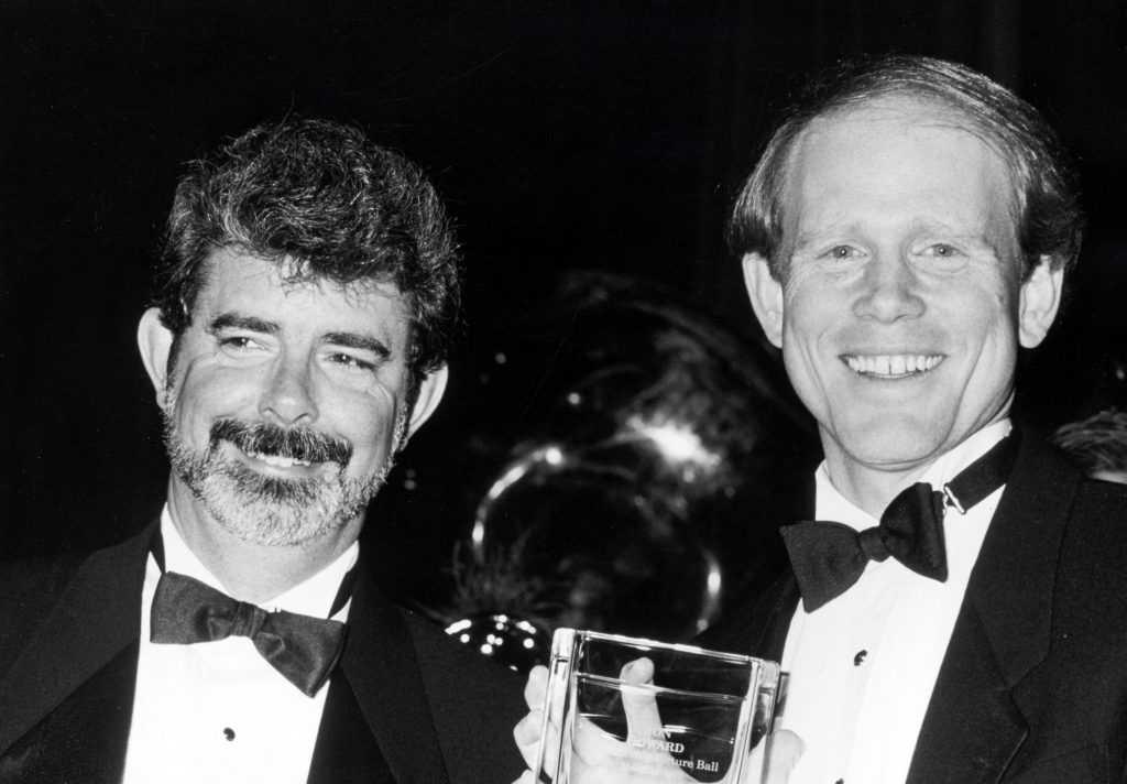 George Lucas and Ron Howard wearing ties