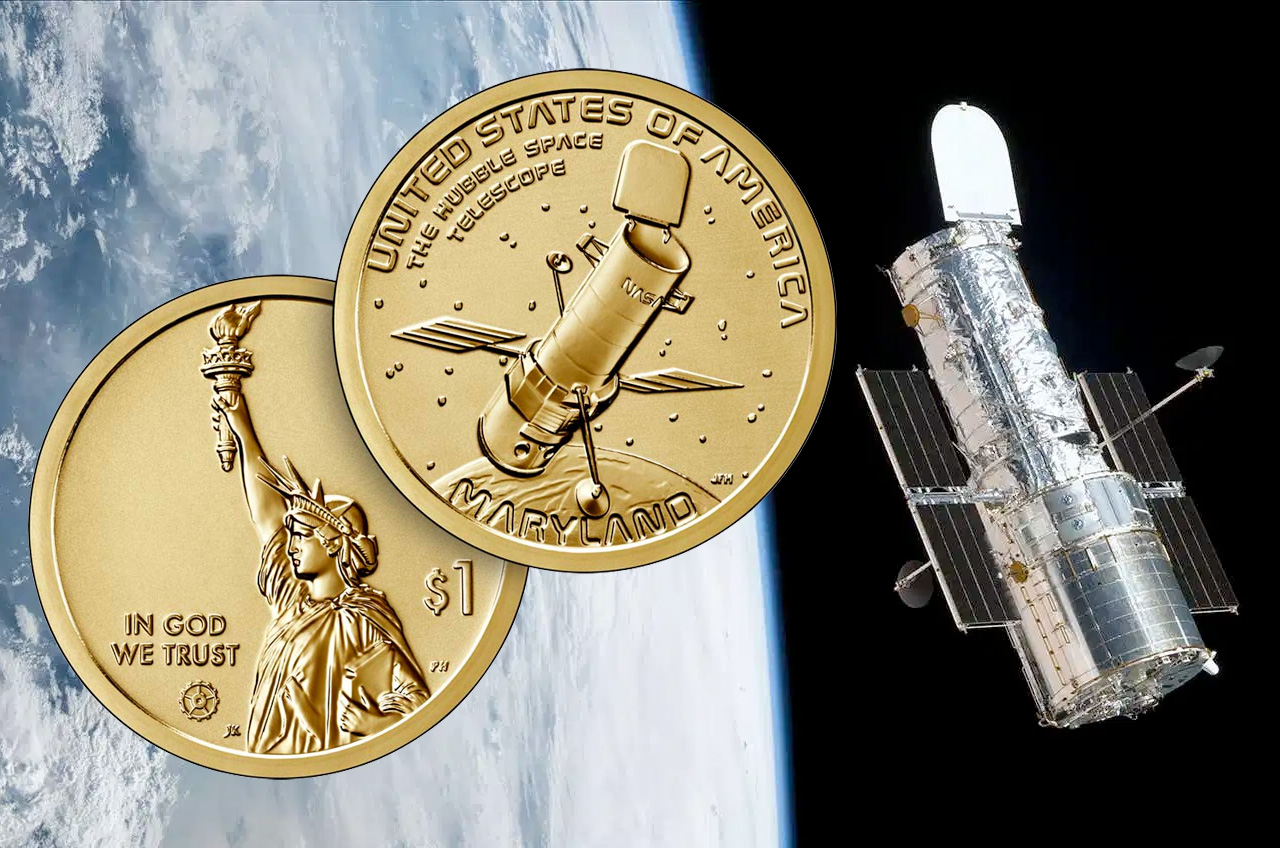 L'entrée du Maryland dans la série de pièces de 1 $ American Innovation de la US Mint met en évidence le télescope spatial Hubble et le rôle de l'État dans la gestion de l'observatoire en orbite depuis le sol.