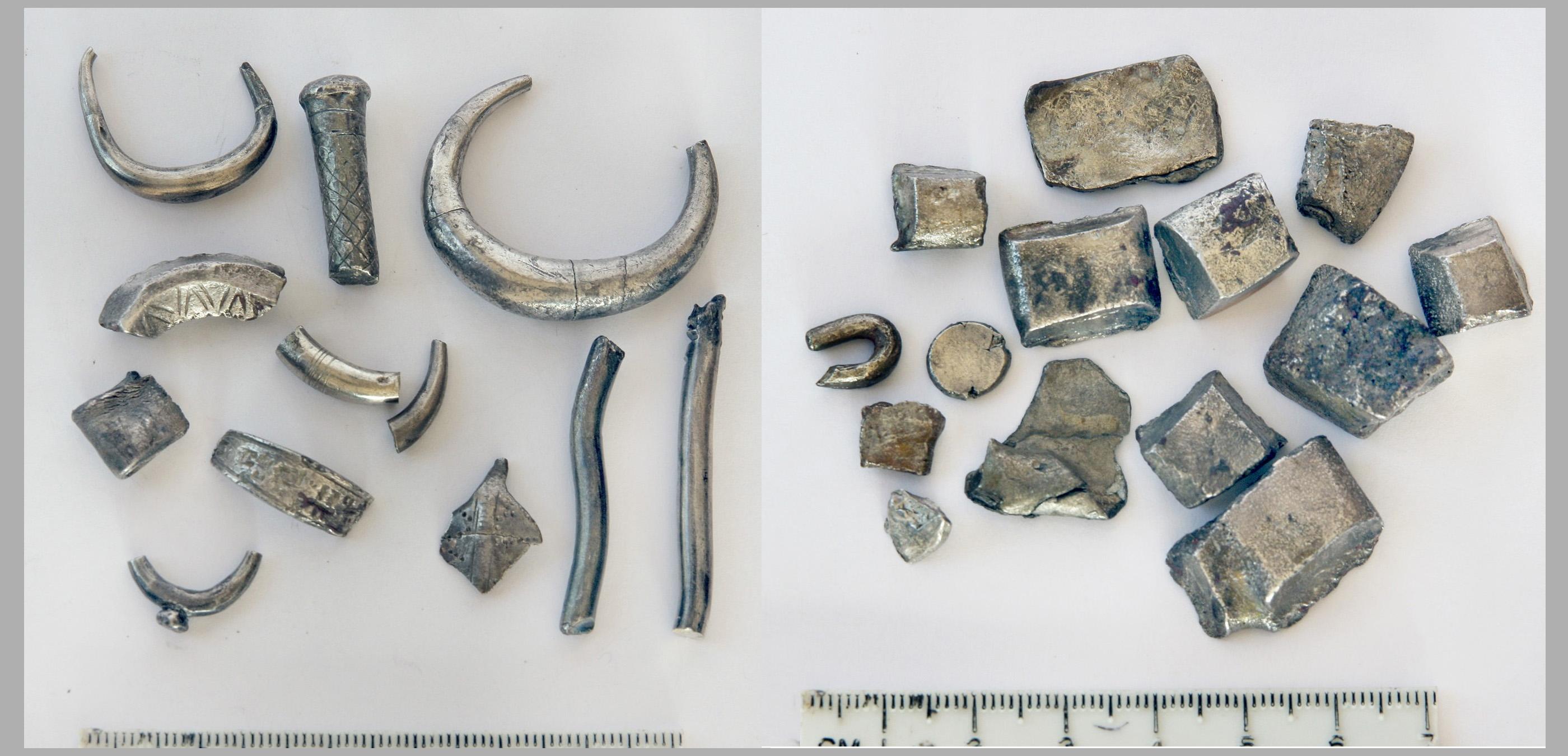 L'un des trésors d'argent cananéens trouvés à Beth Shean dans le nord d'Israël était daté du 12ème siècle avant JC.  Il contient des lingots avec une surface d'argent autour d'un noyau riche en cuivre.