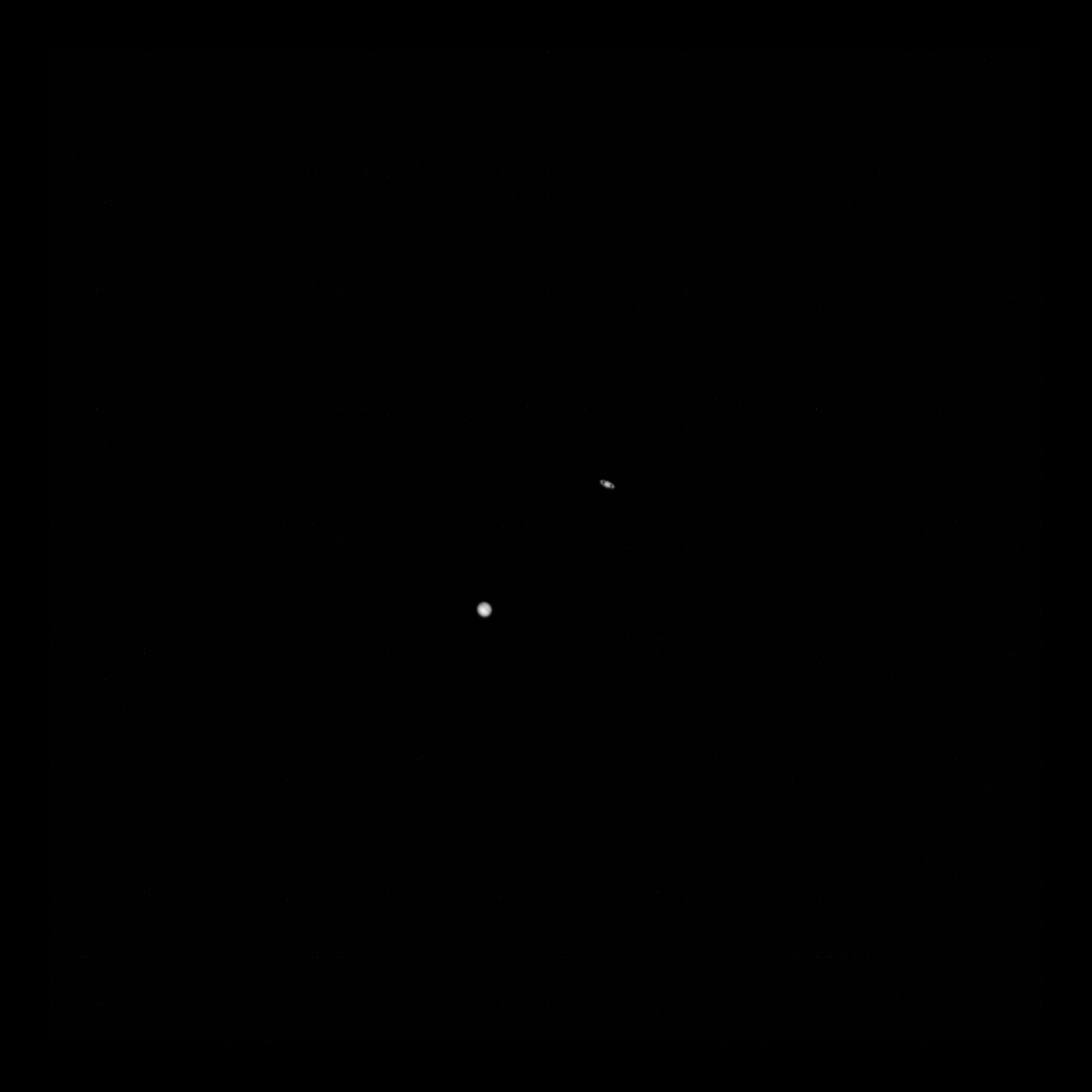 L'orbiteur de reconnaissance lunaire a capturé une image de la grande conjonction de 2020 entre Jupiter et Saturne.
