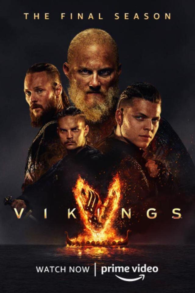 """Affiche officielle des derniers chapitres de """"Vikings"""" (Photo: Prime Video)"""