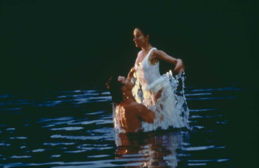 Les acteurs américains Patrick Swayze et Jennifer Gray de 'Dirty Dancing', 1987