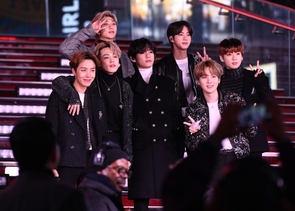 BTS performs during Dick Clark