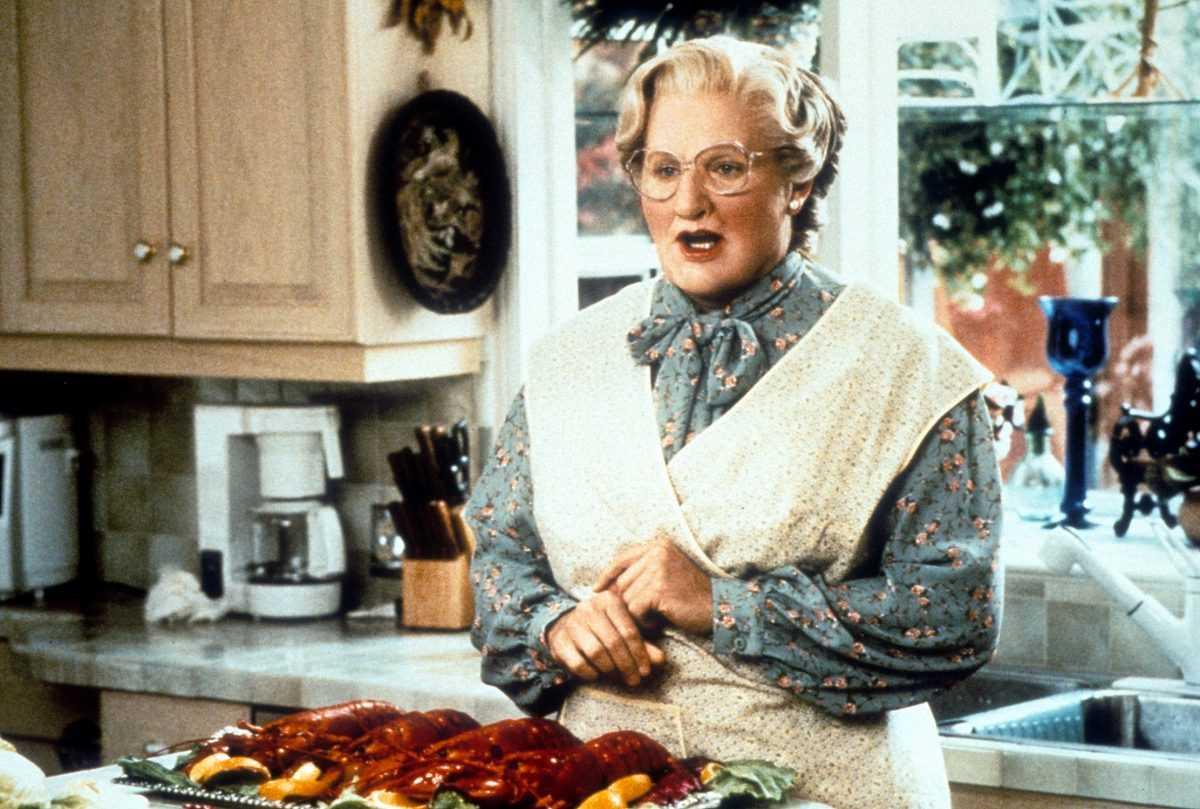 Robin Williams comme Mme Euphegenia Doubtfire dans 'Mrs.  Doubtfire '