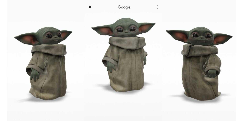 Baby Yoda prêt pour Google AR