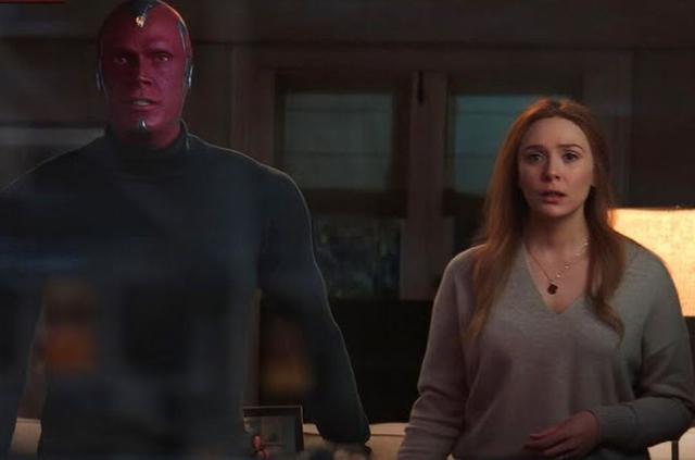 Elizabeth Olsen et Paul Bettany sont les stars de «WandaVision» (Photo: Marvel / Disney +)