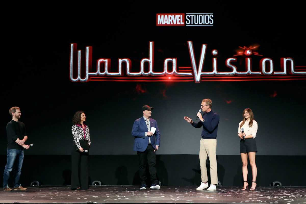 The cast and crew of WandaVision