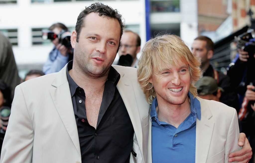 Vince Vaughn and Owen Wilson arrive at the