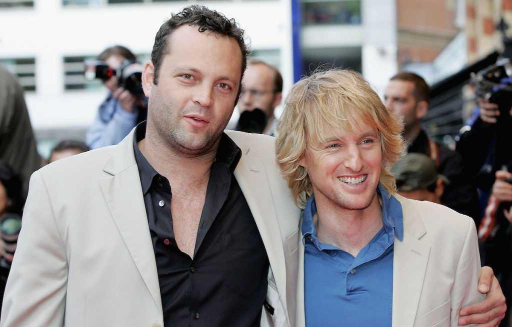 Vince Vaughn et Owen Wilson arrivent à la première mondiale de 'Wedding Crashers' à l'Odeon West End le 4 juillet 2005, à Londres, en Angleterre