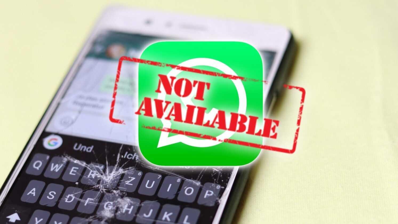 WhatsApp non disponible