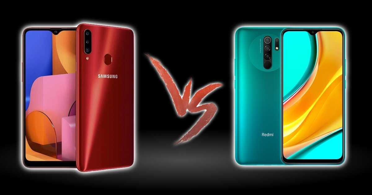 Samsung Galaxy A20s contre Redmi 9