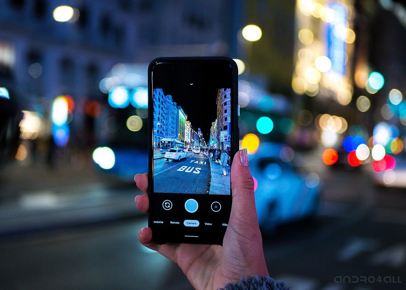 Google Pixel 4 XL, application de caméra de nuit