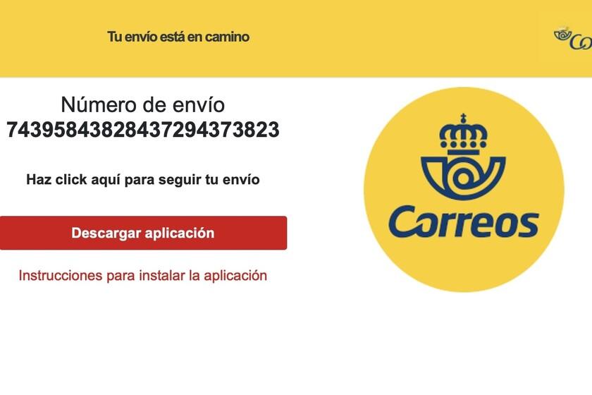 """""""Votre envoi est en route"""": cette escroquerie SMS de Correos prend le contrôle de votre mobile avec un malware difficile à désinstaller"""