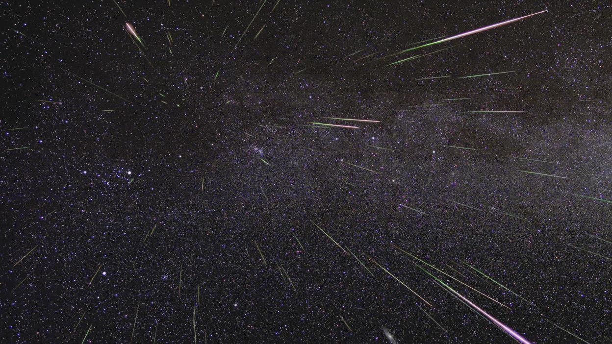La pluie de météores Perséides capturée dans ce time-lapse en août 2009.