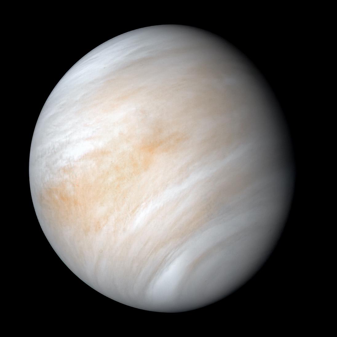 La NASA a pris cette image de Vénus à l'aide de sa sonde Mariner 10 lors d'un survol en 1974.